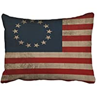4fc8bf1bbfb Xukmefat Custom Old Traditional Vogue Vintage Look Early American Flag  20x30 Inch Rectangle Throw Pillow Covers