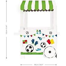 Mery & Lola Party Deco Carrito DE CHUCHERIAS de Cartón Fiesta Football, Medida XL 132