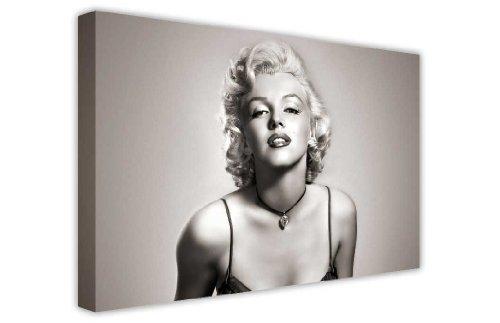 CANVAS IT UP Iconic Marilyn Monroe schwarz und weiß Leinwanddruck, New Age Kunstdruck-Foto Bild tolle Deko für Zuhause