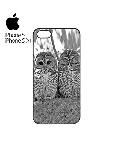 Owl Couple Cute Sleeping Mobile Phone Case Cover iPhone 6 Plus + Black Blanc