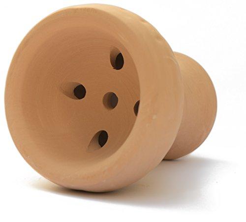 sm.ke - Premium Shisha Kopf aus hochwertigem Ton | Tonkopf für Kamin & Aufsatz | Geschmacksneutraler Naturton | Einfacher Kopfbau + kinderleichte Reinigung