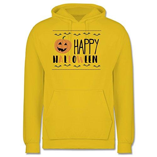Halloween - Happy Halloween - Männer Premium Kapuzenpullover / Hoodie Gelb