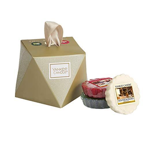 Yankee candle set regalo per calza natalizia con 3 tart profumate