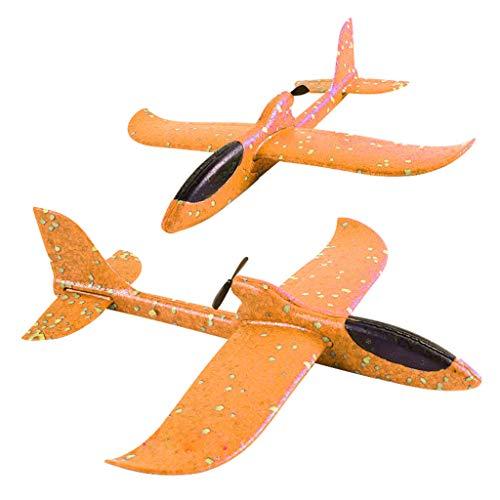 Kaister Schaum Werfen Segelflugzeug Trägheit LED Nacht  Flugzeug Spielzeug Hand Starten Flugzeug Modell (Schaum-roboter)