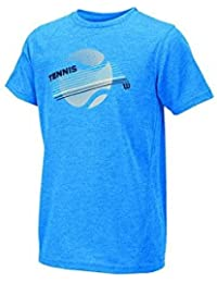 Wilson B Tennis Stripe Tech Tee Nept Hea - Camiseta unisex