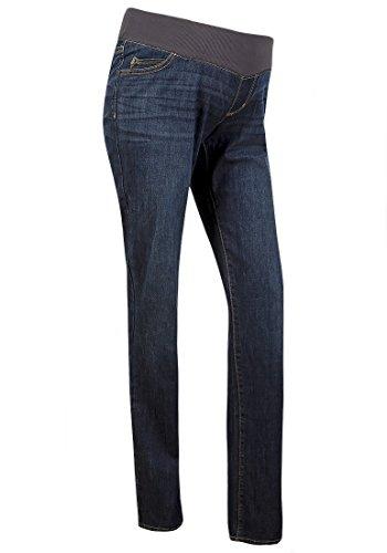 28f264245ea Liz Lange Indigo Boot Cut Maternity Jeans: Under The Bump, Full Elastic  Waistband (