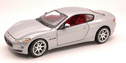 maserati-granturismo-2007-silver-124-burago-auto-stradali-modello-modellino-die-cast