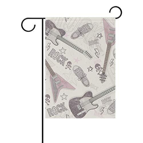 SUNOP Bandera de jardín de poliéster, Pancarta para Guitarra, 30,5 x 45,7 cm, para Exteriores, hogar, jardín, decoración de macetas, Fiestas, Suministros