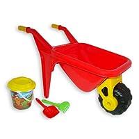 Polesie 41692 453: Big Decorated Bucket, Sieve Sunflower, Shovel, Rake No.5-Sets: Wheelbarrows, Multi Colour
