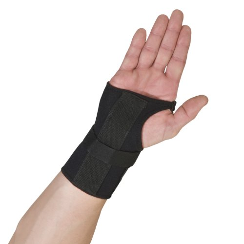 Thermoskin Wrist Brace, Hand Brace, Carpal Tunnel Brace with Dorsal Stay, Black, Right, Large by Thermoskin (English Manual)
