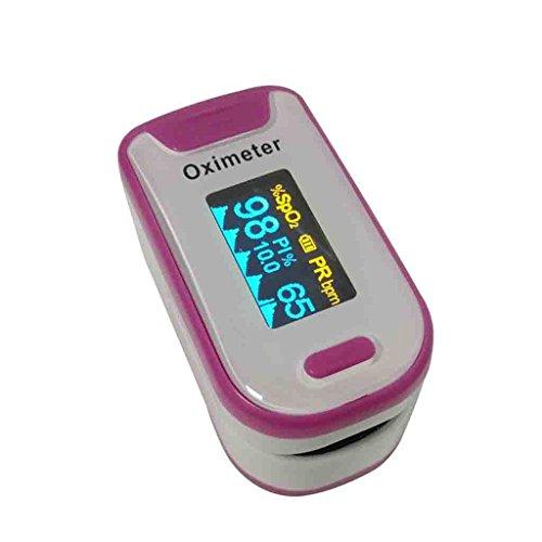 FFNNG Saturimetro da dito Pulsossimetro portatile con display OLED Misuratore della frequenza di ossigeno nel sangue Smart Power Risparmio di forme mediche SpO2 Wave