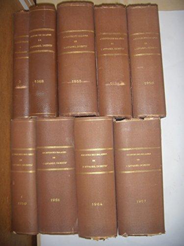 Médecine, Chirurgie: Archives des maladies de l'appareil digestif: 18 vol , BE