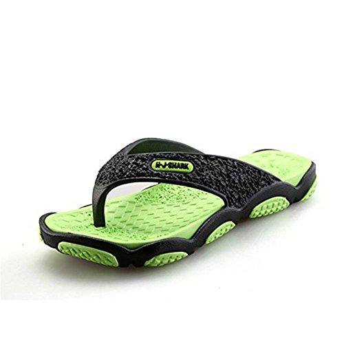 Largeshop Herren Zehentrenner Flip Flops Fußbett Naturkautschuk Massage Rutschfeste Sohle Sommer Flip Pantoffeln für Pool Strand Urlaub