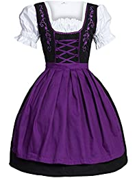 e8677e43534e52 Bongossi-Trade Dirndl 3 tlg.Trachtenkleid Kleid, Bluse, Schürze, Gr.