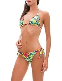ba15f8a118be EFFEK Bikini Triangolo Frou Frou e Slip Nodi Papunya FK19-S652U