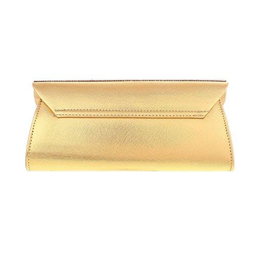 Damara® Elegante Damen Partys Crystal Brieftaschen Handtaschen Beige