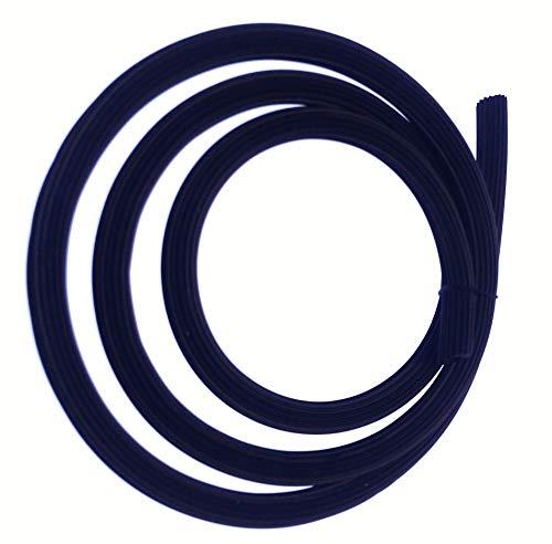0,32 €/m Meterware Gummi Keder Gummischnur für Fliegengitter Insektenschutz schwarz braun aus Kunststoff PVC rund für Spannrahmen als Kedergummi Schnur Ersatzteil Zubehör (5mm - schwarz - 50m)