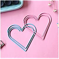 Huyizhi Creativo Metal Love Heart Paperclip Marcadores Escuela Material de oficina Diario Bookmark Stationery (Aleatorio) para sus suministros officce