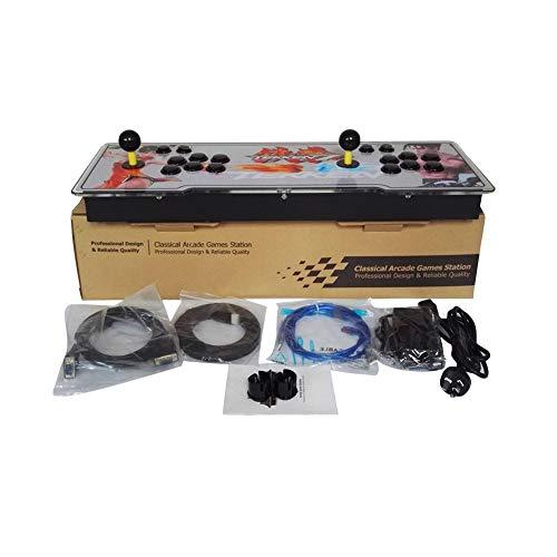 Cypressen Pandoras Box 7 3D-Heim-Arcade-Spielekonsole Spielsteuerung für 2 Spieler, 2177 HD-Spiele 1920 X 1080 Full HD 4 Spieler max Arcade Machine. - Ps3 80 Konsole