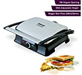 Inalsa Super Jumbo Max-grill Sandwich Toaster/Contact Grill | With Temperature Controller and LED
