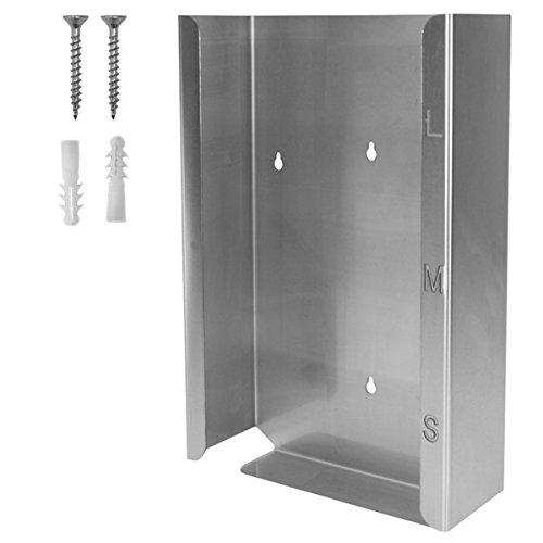 Handschuh-Spender Edelstahl  Für 3 Boxen schmal (39 x 24.5 x 8) Silber