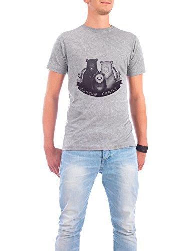 "Design T-Shirt Männer Continental Cotton ""Modern Family"" - stylisches Shirt Tiere von Tobe Fonseca Grau"