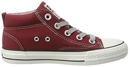 Dockers by Gerli 38ay603-710720, Sneakers Hautes Mixte Enfant Rouge (Dunkelrot 720)