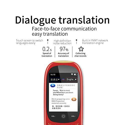 Ai Smart Voice Translator Wifi Hospot Handheld Echtzeit 75 Sprachen 2,0