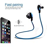 ROYAL Sweatproof Sports Headset Sport Bluetooth Headset||Running And Gym Wireless Stereo Bluetooth Headphone With Mic & Noise Cancelling Headsets||4.1 Wireless Stereo Sport Headphones Headset||Stereo Sound Quality With Ergonomic-Design…(BLUE) C