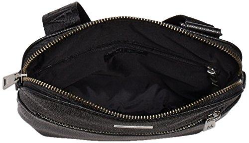 Armani Jeans0623ES7 - Borse a Tracolla Uomo Nero (Schwarz (NERO - BLACK 12))