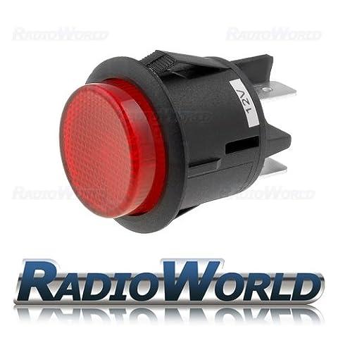 12v Illuminated Push Button Switch Latching ON - OFF DPST Car Dash Light