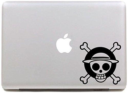 Vati Blätter Removable kreativen Stück Schädel-Logo One Piece Aufkleber Aufkleber Skin Art Schwarz für Apple Macbook Pro Air Mac 13