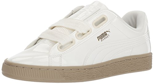 PUMA Women's Basket Heart Patent Wn, Marshmallow-Marshmallow, 10.5 M US