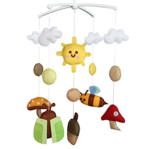 [Frühling] Bunte Musik-Mobile, handgemachte hängende Spielwaren, Baby-Geschenk