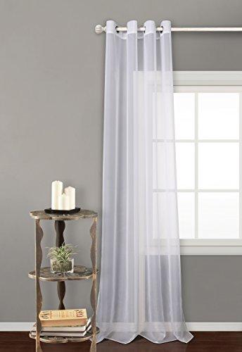 Tende traslucide con 8 ollao (1 pannello, 140 x 260) per soggiorno e camera. tenda modello voile 140_x_260_cm bianco