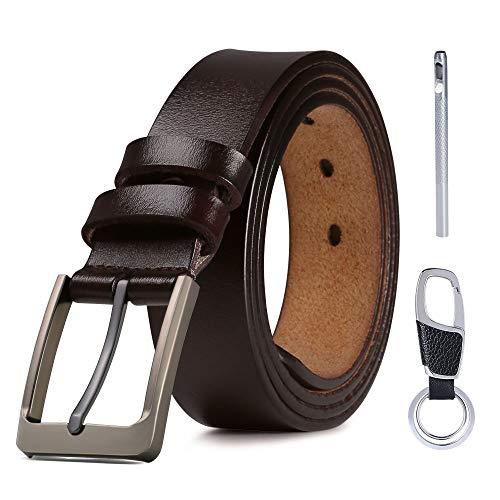 flintronic Cinturón Para Hombres, Cuero Cinturón con Hebilla de...