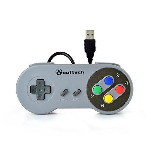 Neuftech SNES Style USB Controller Retro Gamepad für PC MAC Raspberry pi