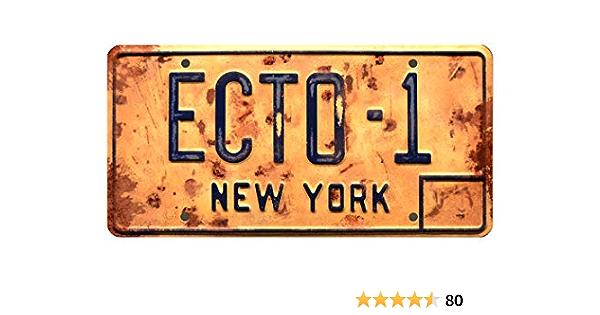 Celebrity Machines Ghostbusters Afterlife Ecto 1 Metall Gestempelt Nummernschild Auto