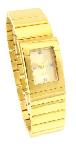 D&G Dolce&Gabbana Damen-Armbanduhr SCOTLAND IPG CHAMPAGNE STONES DIAL BRC DW0329