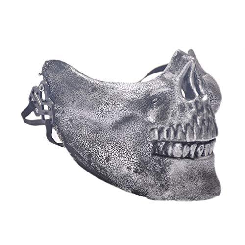 Hilai Maskerade Maske Horror Schädel Gesicht Maske Party Cosplay Masken Kostüm Play Prop Dekor beängstigend Party Festival Halloweendekoration