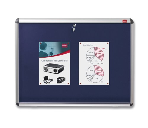 Nobo Internal Display Case with Vibrant Internal Felt Board (Blue, A0)