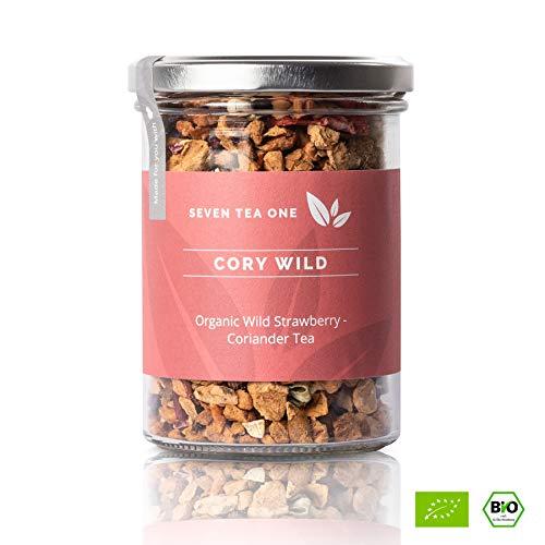 Cory Wild Walderdbeere-Tee - Fruchtig-exotischer Tee - Aromatisiert - BIO-zertifiziert - Erdbeere - 125g