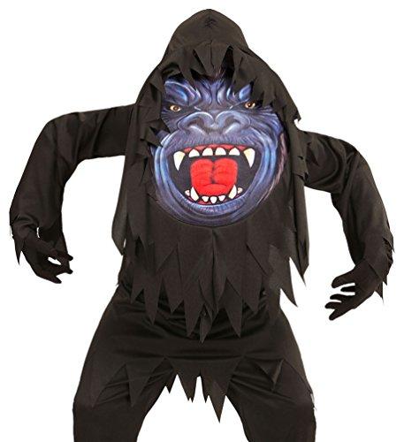 Karneval-Klamotten Gorilla-Kostüm Kinder mit riesen Gorilla Maske Halloween Jungen-kostüm Größe - Gorilla Kostüm Für Jungen