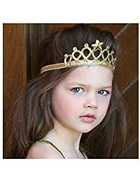 Bandeau couronne little princesse, modèle doré ou argent