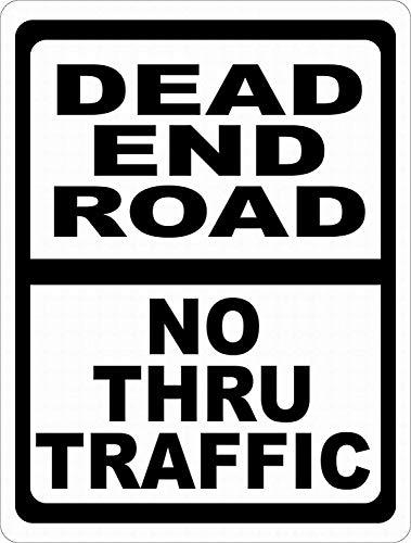 Sary buri Dead End Road Vintage Metall Blechschild Plaque Wandkunst Geeignet für Garage Club Bar Cafe Malerei Dekoration