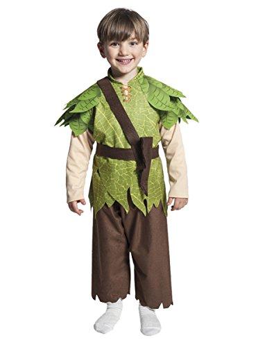 costume carnevale peter pan 3/5 anni