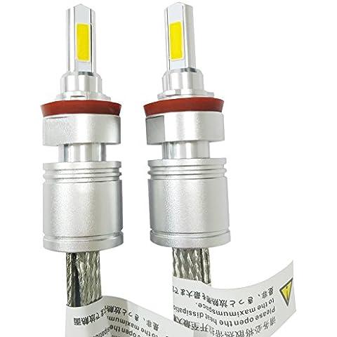 Huaming 6000K 5000LM 9–32V 2pcs tutti in uno ricambio 40W LED lampadine per fari auto guida fendinebbia Kit di conversione IP 68impermeabile protezione H11
