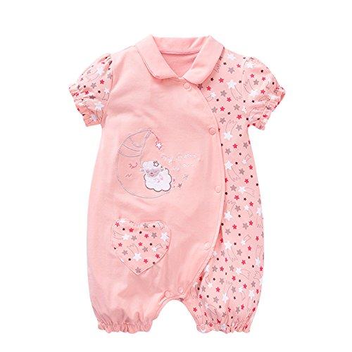 Yanqiao Baby Mädchen (0-24 Monate) Body, rosa (Tie Cap Baumwolle Dye)