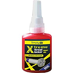 Simply XRTL1 Xtreme Removable Thread Locker, 50 ml, Blue, Various fastenings and fittings for preventing nuts, bolts, bearings, fasteners and screws from loosening