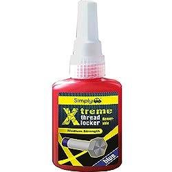 Simply XRTL1 Xtreme Removable Thread Locker, Medium Strength, 50 ml, Blue